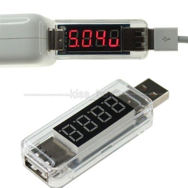 DC3V-8V 3A Voltmeter/Ammeter USB Volt Ampere Meter Mobile Power Charging Monitor