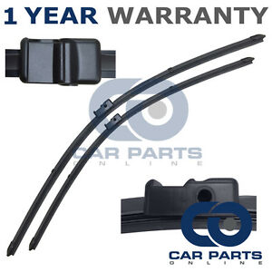 """FOR AUDI A3 MK2 SPORTBACK 2005 DIRECT FIT FRONT AERO WIPER BLADES PAIR 24/"""" 19/"""""""