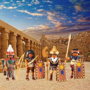 PLAYMOBIL Egiziani Soldati EGIZIANI & LEADER X 4 Figure Set 6488 & 6489