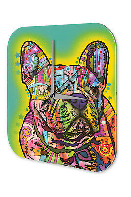 Orologio Da Parete Decorazione Cani Bulldog Francese Francese Acrilico Decorazione Muro Orologio Retrò-