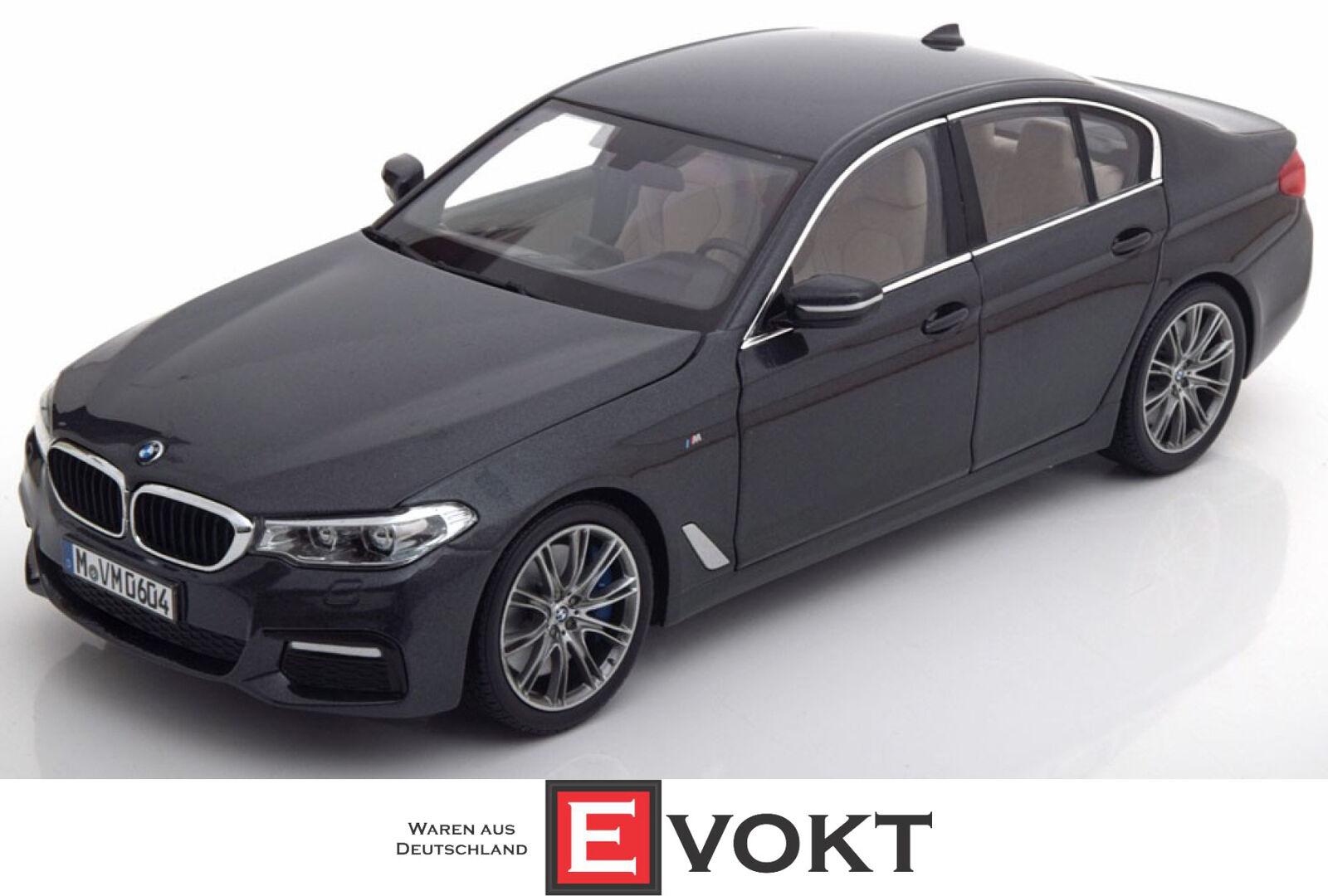 Original BMW 5er G30 grigio Sophisto Saloon en miniatura 1 18 Kyosho Modelo de Coche