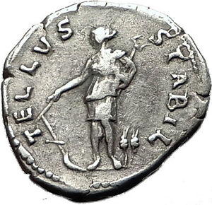 Hadrian-134AD-Ancient-Silver-Coin-034-Mother-Earth-034-Tellus-Terra-Mater-Rare-i58526