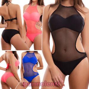 Monokini-donna-costume-da-bagno-intero-rete-body-push-up-mare-nuovo-F8803