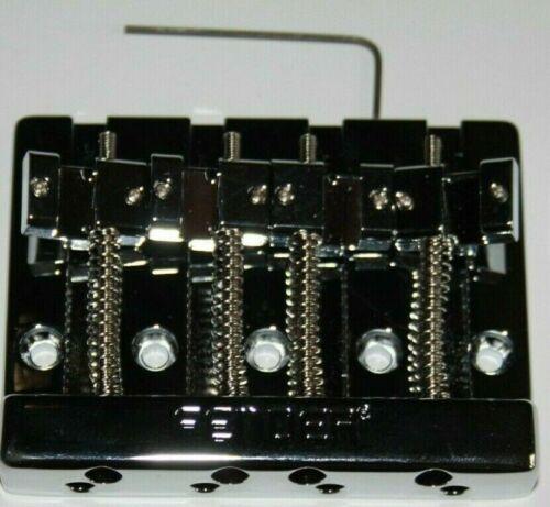 Fender Bass Bridge Brücke 4 Saiter chrom massiv schwer Sustain Brass Messing