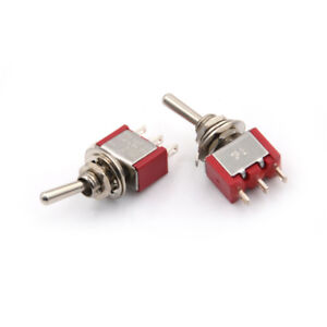 2x-SPDT-on-off-on-3-posicion-momentaneo-interruptor-de-palanca-AC250V-2A-120V-5A