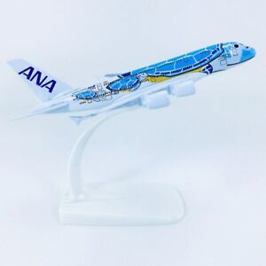 1-400-Scale-Airplanes-Japan-ANA-Airlines-Airbus-A380-Blue-HONU-Lani-Ka-La-Plane