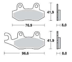 BRAKING-PASTIGLIE-FRENO-ANTERIORE-KAWASAKI-KX-250-1989-1993-BRAKE-PADS-FRONT