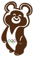 Misha Olimpiadi di Mosca Misha Moscow Olympics etichetta sticker 8cm x 13cm
