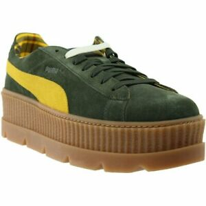 online store 1feb7 b3ff3 Details about Puma Fenty by Rihanna Suede Cleated Creeper Casual Sneakers  Green - Mens -
