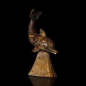 Art Scultura Da Tavolo Stilizzata Delfino Travertino Dolphin Table Sculpture H.17cm To Make One Feel At Ease And Energetic