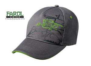 Genuine-John-Deere-Grey-Combine-Baseball-Cap-Hat-Adults-MCJ099399103