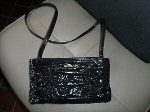Details about Michael Kors Black Snakeskin Faux Leather Crossbody Shoulder Handbag Purse Small
