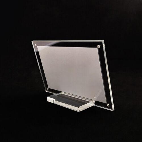 Acrylic Table Card Sign Plexiglass Card Transparent Display Stand Photo Frame