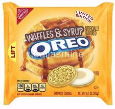 NEW! OREO WAFFLES & SYRUP Sandwich Cookies Nabisco Limited Edition 10.7 Oz