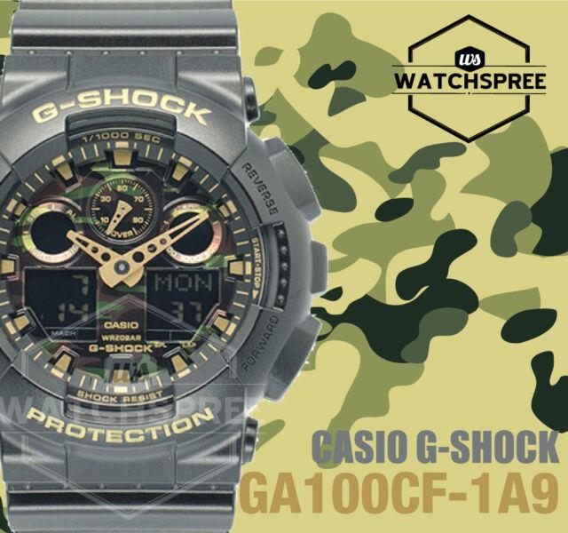 Casio G-Shock Classic Camouflage GA-100 Series GA100CF-1A9 AU FAST & FREE*