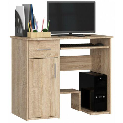 Schreibtisch Clif Bürotisch Computertisch Tisch 90 cm weiß sonoma wenge erle 25
