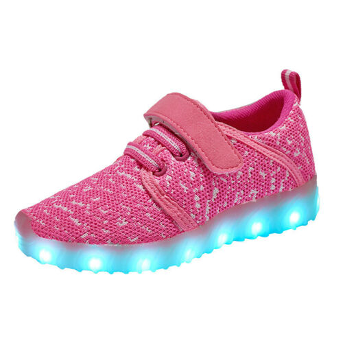 USB Charging Shoes for Boy Girl Children Lights Sport Shoes Kids LED Sneakers
