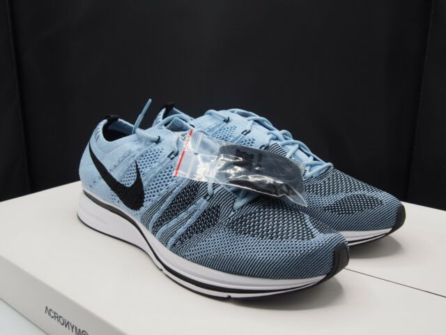 reputable site c80d6 0802d Mens Nike Flyknit Trainer Cirrus Blue Black White Ah8396 400 Size 10