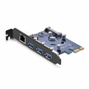 UGREEN Gigabit Ethernet PCI Express PCI-E Network Controller Card 10//100//1000Mbps RJ45 LAN Adapter Converter for Desktop PC
