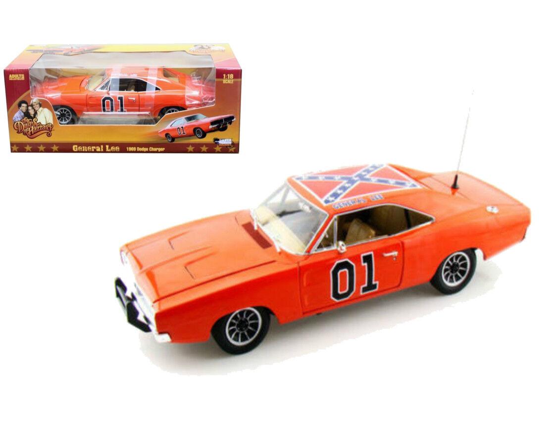 1969 Dodge Charger General Lee Dukes of Hazzard Échelle 1 18 Par Auto World AMM964