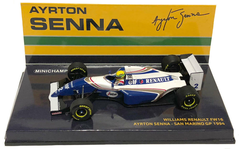 Minichamps Williams FW16  2 SAN MARINO  IMOLA 'GP 1994-AYRTON SENNA  SCALA