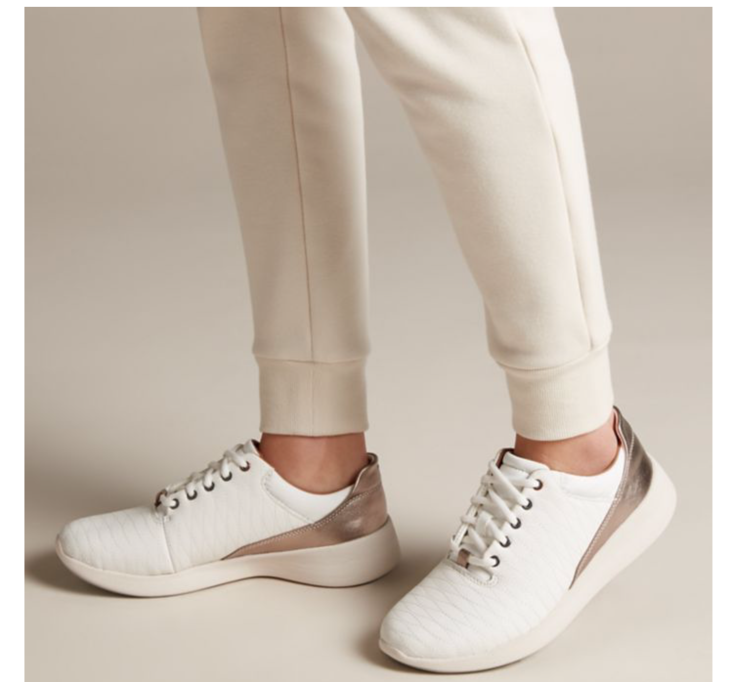 Clarks by Unstructured Women's UN Alfresco LO White White White Leather shoes 26135710 64a822