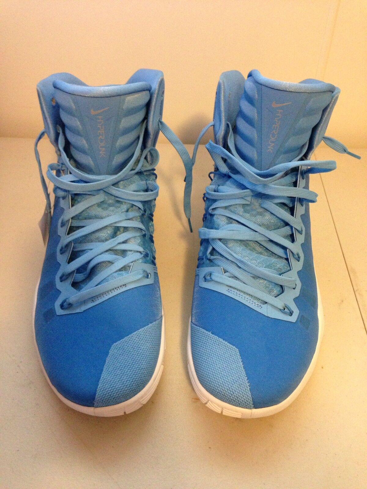 Men's NIKE Zoom Hyperdunk Athletic Sneakers, SZ18, Blue/White, 844368-443, 2018