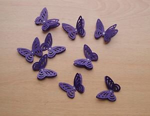 3D CADBURY PURPLE BUTTERFLIES WEDDING STATIONERY CARDS CRAFTS TOPPERS - <span itemprop=availableAtOrFrom> Nottinghamshire, United Kingdom</span> - 3D CADBURY PURPLE BUTTERFLIES WEDDING STATIONERY CARDS CRAFTS TOPPERS -  Nottinghamshire, United Kingdom