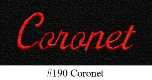 4pc 1966-1970 Dodge Coronet Floor Mats 4spd LoopFits