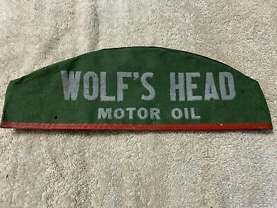 TWO Vintage Wolf/'s Head Motor Oil and Lubes Gas Station Attendant Hat Collectors