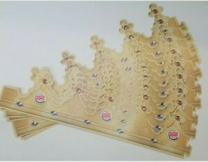 Lot of (3) Burger King Crown Paper Hats 2014 Birthday Party Favors