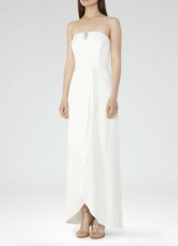 Occasion Bridal Reiss Longue De Cocktail Robe Soirée Wedding White TCqFpB