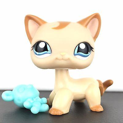 Authentic Littlest Pet Shop 1024 Cat Short Hair Kitty Kitten Original LPS