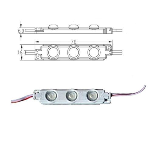 warmweiß kaltweiß 1-100 Travo 12V 1,5W Werbung Beleuchtung 3er LED Module