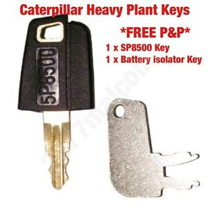 Caterpillar Key Set 1x Sp8500/1x Isolateur De Clés-afficher Le Titre D'origine