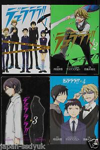 Durarara-manga-1-4-Complete-Set-2009-japan-book