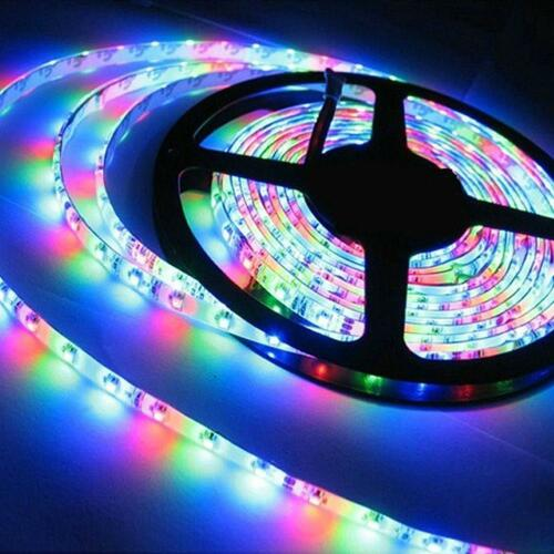 ultra bright 1m 5m 5050 smd led light strip flexible 12v 2a power party us plug