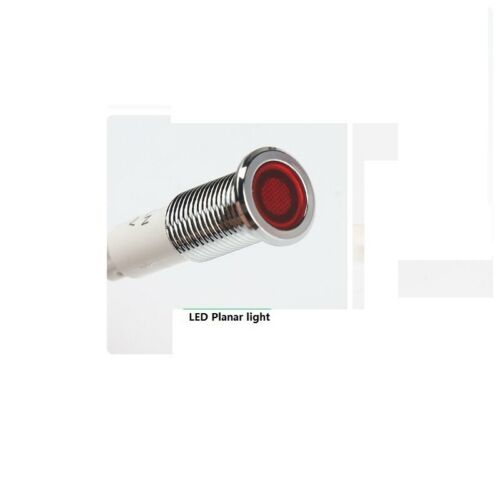 2Pcs 10mm Green white 220V led metal signal indicator light lamp with cable 20cm