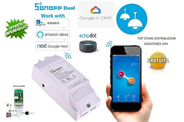 Sonoff Dual R2 switch Interruttore Smart,basic,DOMOTICA WI FI,ALEXA GOOGLE HOME