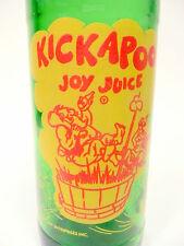 vintage ACL Soda POP Bottle: green  KICKAPOO JOY JUICE from NUGRAPE - 10 oz ACL