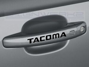 Tacoma Door Handle Sticker Logo Trd Toyota Truck Racing