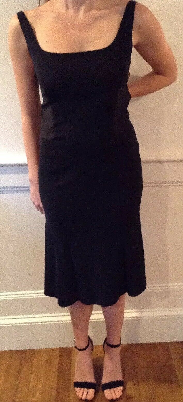 Neuf avec étiquette Diane Von Furstenberg Bridget Robe Noire Taille 12