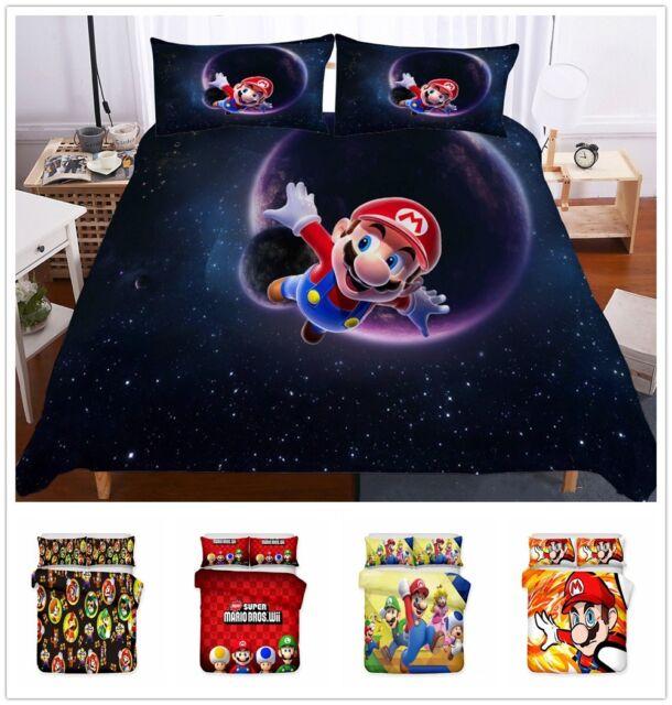 Super Mario Bros Luigi Retro Single, Super Mario Bros Full Size Bedding