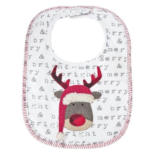 Mud Pie H8 Baby Renne /& Babbo Natale sentimento Alimentazione Bavaglino 10280016 Scegli Design