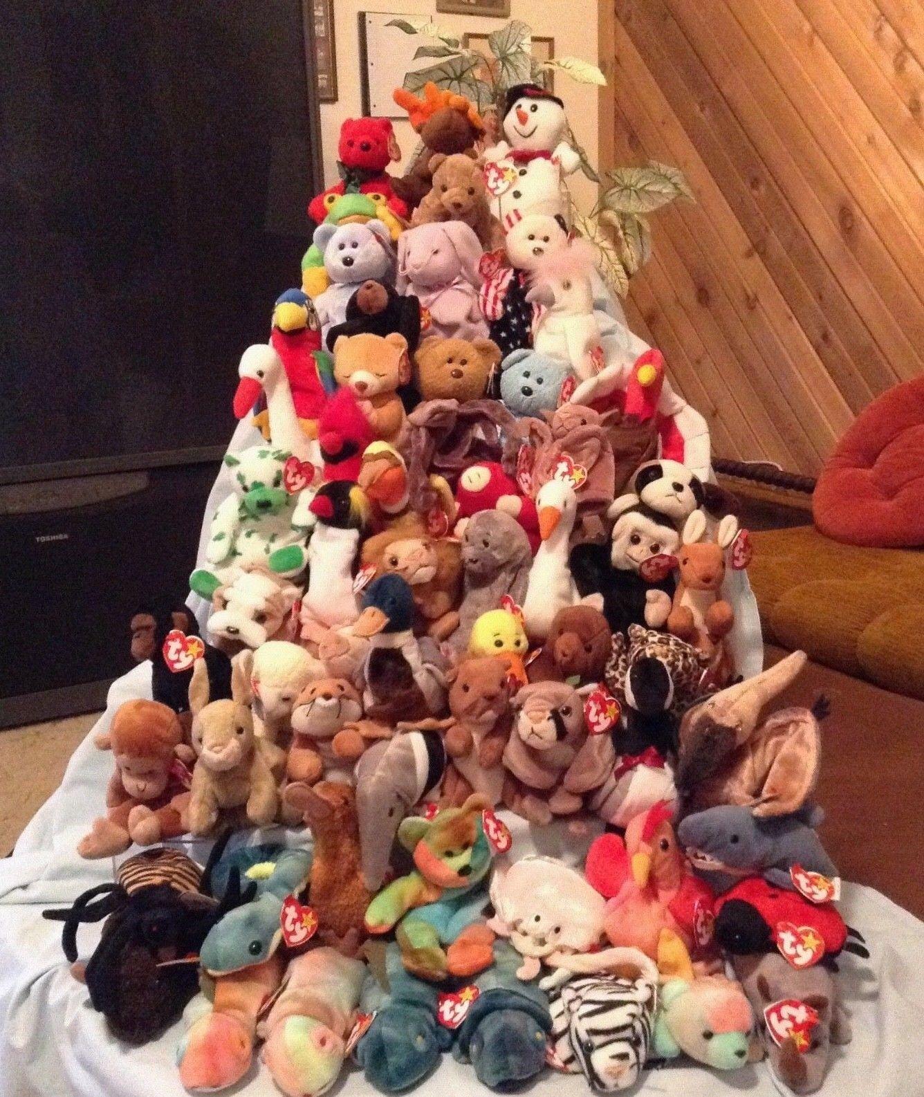 Ty Beanie Babies Lot of 61 1993 thru 2001 Boys & Girls 3+ Animals   59.99