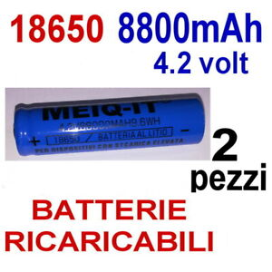 2-X-BATTERIA-18650-4-2V-8800-mAh-RICARICABILE-PILA-TORCIA-AVVITATORE