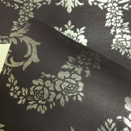 Exclusive Wallcoverings Purple Floral Wallpaper FD69040