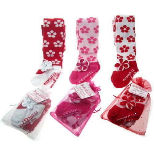 Socks Mary Jean Flower Toddlers//Baby Girls Tights //Pants Legging
