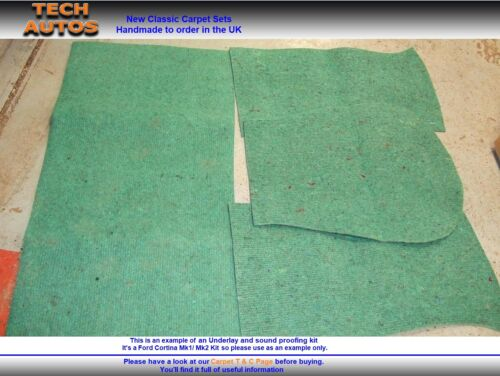 Underlay /& Soundproof Set Handmade to Order Triumph Herald