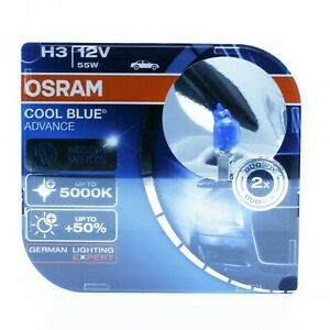 2x-OSRAM-H3-PK22s-55W-12V-COOL-BLUE-ADVANCE-5000K-XENON-EFFECT-HYPER